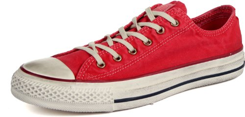Converse Chucks OX Washed Used Look Gr 36 UK 3,5 Tango Red 136715C