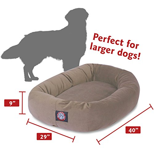40 inch Stone Suede Bagel Dog Bed By Majestic Pet Products by Majestic Pet (Image #3)