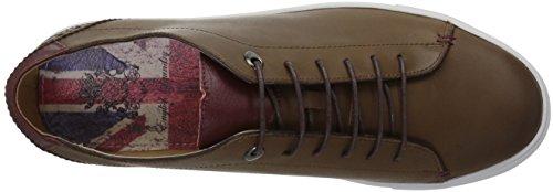 Engelska Tvätt Mens Tudor Mode Sneaker Cognac