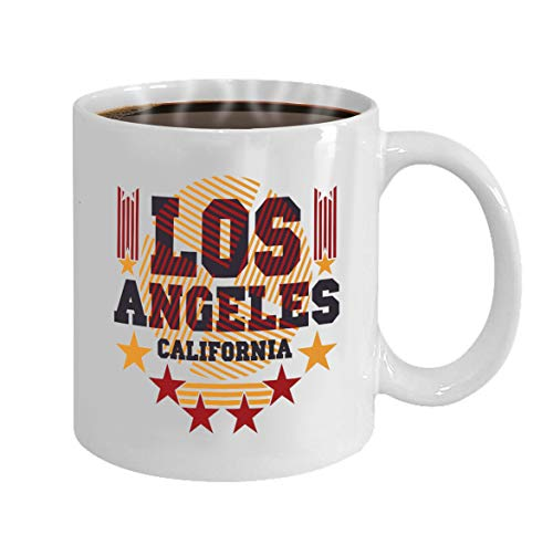 Funny Gifts for Halloween Party Gift Coffee Mug Tea los angeles california graphic sport emblem design -