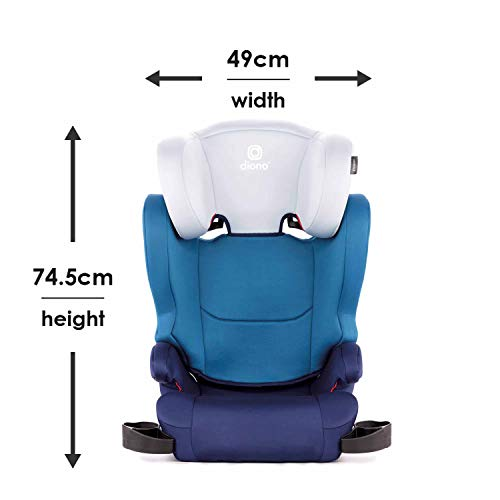 41XVTnEf%2B%2BL - Diono Cambria 2 Latch, 2-in-1 Belt Positioning Booster Seat, High-Back To Backless Booster XL Space And Room To Grow, 8 Years 1 Booster Seat, Ultimate Safety And Protection, Blue