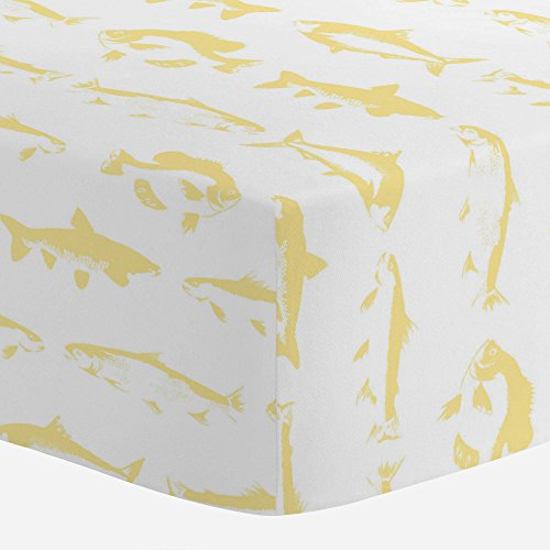 - Carousel Designs Banana Yellow Fish Crib Sheet - Organic 100% Cotton Fitted Crib Sheet - Made in The USA