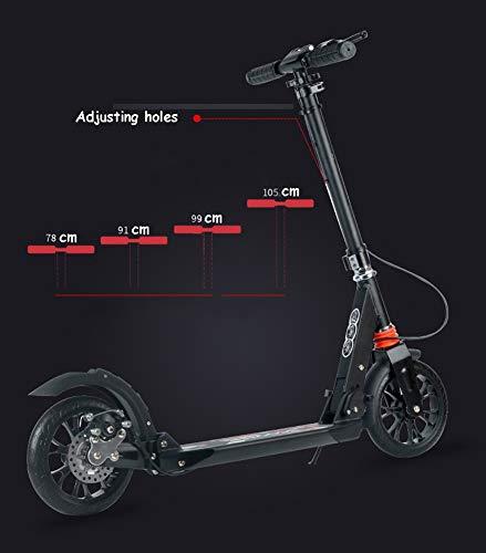 Amazon.com: Patinete para adultos con 2 ruedas grandes ...