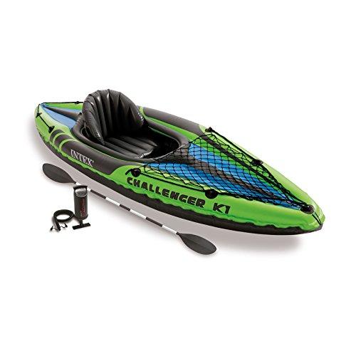 Intex Challenger K1 Kayak, 1-Person Inflatable Kayak Set...