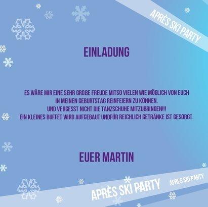 Einladungskarten Zum 40 Geburtstag 5 Stuck Apres Ski Party
