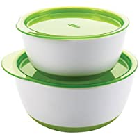 OXO TOT Small and Large Bowl Set, Green, 2 Count