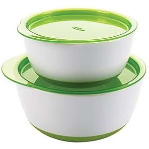 Oxo -Juego de Tazones con tapa, color verde
