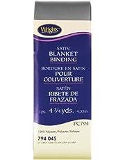 Wrights 117-794-045 Single Fold Satin Blanket Binding, Light Grey, 4.75-Yard