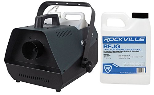 Package: American DJ Fog Fury 3000 1500 Watt High Output Fog Machine With Wired Remote and a Specialized Pipeline System That Minimizes Clogging + Rockville RFJG Gallon Fog/Smoke Juice Fluid by American DJ