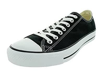 Converse Chuck Taylor All Star Leather Low Top Shoe, black mono, 5 M US
