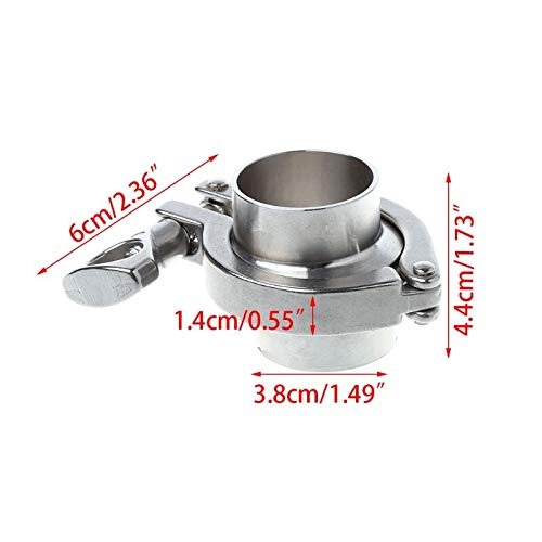 - Tri Clamp - 38mm 51mm O D Sanitary Tri Clamp Weld Ferrule 2 Quot Silicon Gasket Assembly 304 Stainless Steel - Instrument Disconnect Head Stone Pressure Ball Shower Gauge Elbow Temperature Sampl