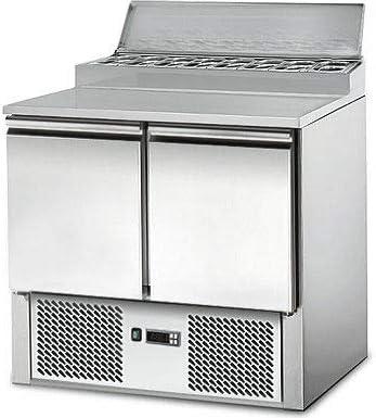 Saladette/Zubereitungstisch PREMIUM - 0,9 x 0,7m - mit 2 Türen