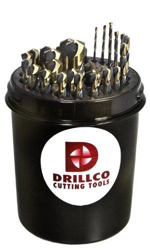 Drillco 350N Series Nitro 29 Piece High-Speed Steel Mecha...