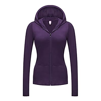 Regna X NO Bother Women's Active Lightweight Full-Zip Hooded Jacket (28 Colors, S-3X)