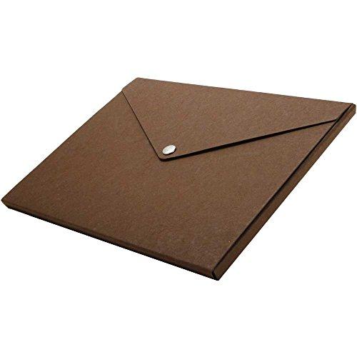 - JAM Paper Recycled Portfolio with Snap Closure - Medium - 9 1/4 x 12 1/4 x 1/2 - Brown Kraft - Sold Individually