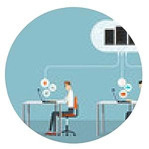 alfombrilla de ratón la gente de negocios que trabaja en la red de la nube - ronda - 20cm
