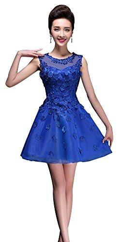 Drasawee Linie A Damen Königsblau Blau Kleid wUpwB8rq4