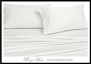 King White Silky Soft sheets 100% Viscose from Bamboo Sheet Set