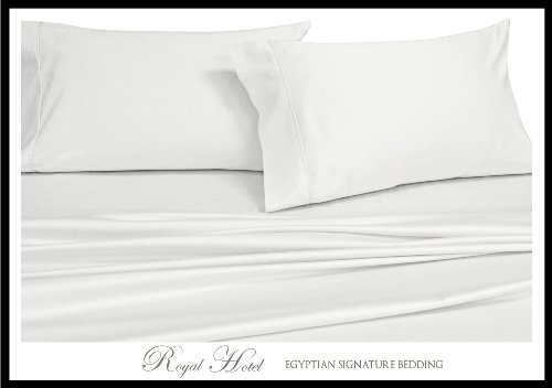 King / Cal-King White Silky Soft Rayon from Bamboo Duvet Cov