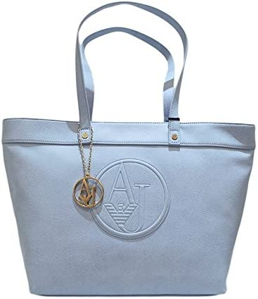 Armani Jeans Borse Ecopelle.Armani Borsa Jeans Shopping A Spalla In Ecopelle Celeste Amazon It Scarpe E Borse