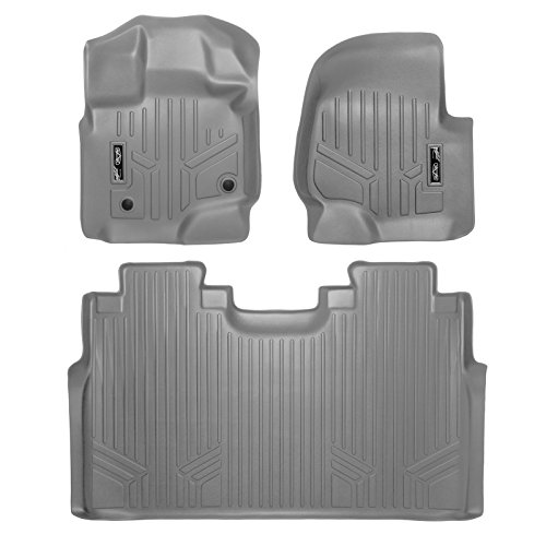 MAX LINER A2167/B2167 Gray Custom Fit Floor Mats 2 Liner Set Grey for 2015-2019 Ford F-150 SuperCrew Cab with 1st Row Bucket Seats