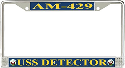 (MilitaryBest USS Detector AM-429 License Plate Frame)