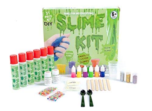 DIY Slime Kit - Ultimate 31 Piece Slime kit for Girls & Boys - Make 12 Custom batches of Clear, Color, Glitter, Bead, Glow Slime & More - #1 Fun & Educational DIY Slime - Slime Making Kit! by Global Essentials