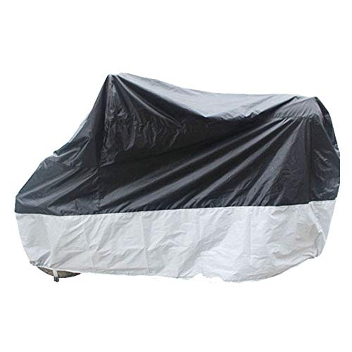 ZZKJTANGYMTT Motorcycle Covers for Outside Storage, Electric Car Cover, Waterproof, Sun Protection, Snow Cover, Windproof,Silver-220x95x110cm