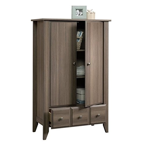 Sauder 418662 Shoal Creek Armoire, L: 34.65'' x W: 17.48'' x H: 54.29'', Diamond Ash finish by Sauder