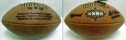 (Wilson Super Bowl XXXII Official Game Football Denver Broncos vs. Green Bay Packers)