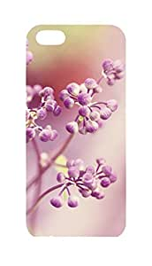 Pink Flower Iphone 5 5S Hard Protective 3D Case by Lilyshouse