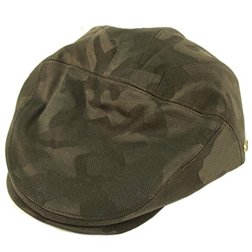 Epoch Men's 100% Cotton 7 Panel Ivy Mixed Pattern Driver Cabby Flat Cap Hat L/XL Camouflage Olive