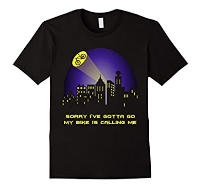 My Bike is Calling Me - Funny Humor Sports Cycling shirts