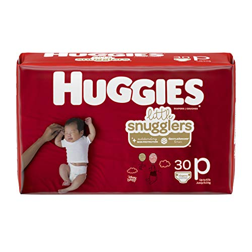 30 Reward Points - Huggies Little Snugglers Baby Diapers, Size Preemie, 30 Count (Packaging May Vary)