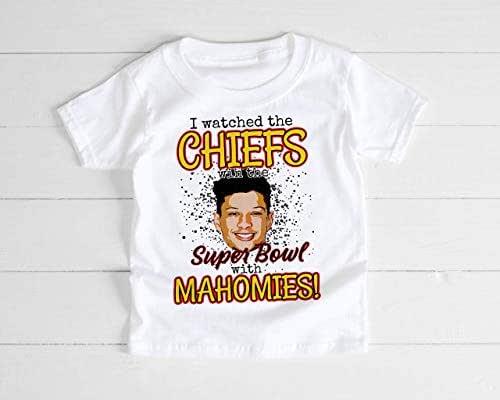 Kansas City Chiefs Patrick is Mahomie Unisex Super Bowl Sunday Football Toddler Kids Boy Girl Youth Tee Shirt