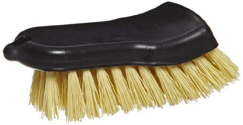 Carlisle 36501500 Sparta Curved-Back Utility Scrub Brush, Plastic Block, 1-5/8