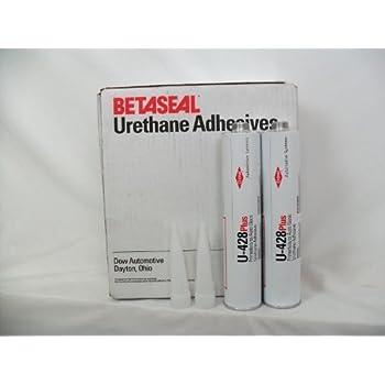 2 Tube of DOW U-428 Plus Auto Glass Windshield Urethane Primerless Adhesive Glue Sealant