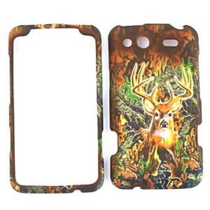 HTC Salsa Camo / Camouflage Hunter Series, w/ Deer Hard Case, Snap On Cover