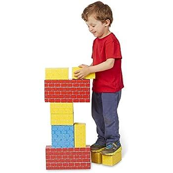 Melissa & Doug Deluxe Jumbo Cardboard Blocks (Developmental Toys, 24 Pieces, 19