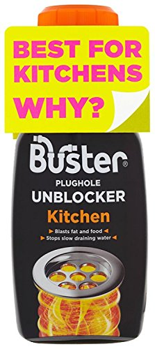 Buster Kitchen Plughole Unblocker 200 g (Pack of 3) Challs