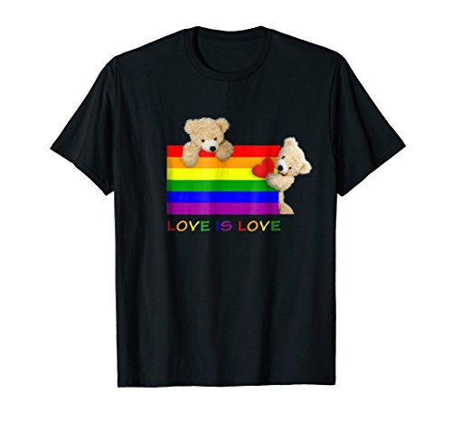 Gay Teddy Bear Pride - Love is Love -