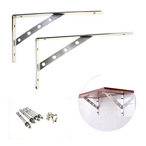Stainless Steel Solid Shelf Brackets,16