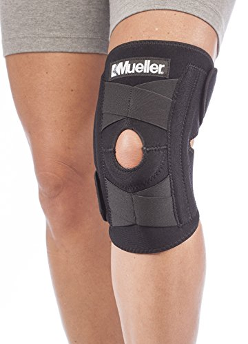 Mueller Sports Medicine - Mueller Sports Medicine Self Adjusting Knee Stabilizer, Black, One Size Fits Most