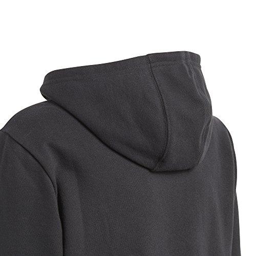 Felpa Trifoglio S cappuccio nero Originals bianco grande con per di bambini Adidas rqBrRE