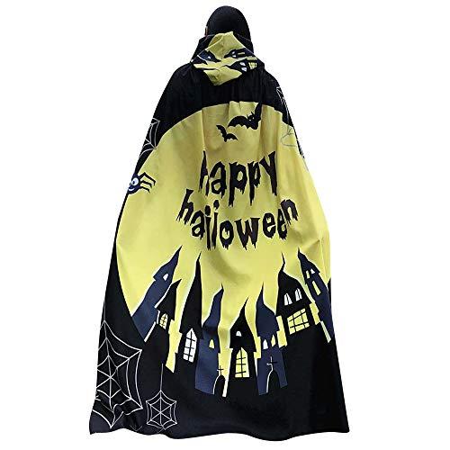 DEATU Halloween Costume, Novelty Pumpkin Print Cape Scarf Halloween Poncho Shawl/Costume Accessory -