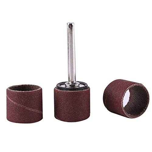 High Five Store 100pcs 600 Grit Sanding Bands Drums Sleeves and 1//8inch Mandrel for Rotary Tool New Product