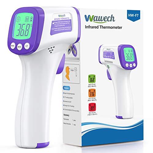 🥇 Termometro Infrarrojos Wawech termometro digital sin contacto termómetro infrarrojo de frente para adultos bebés y niños