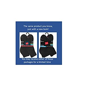 Hanes Mens Black Active Cool Ankle Socks (Size 6-12)