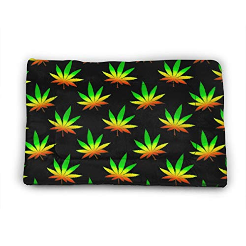 Funny Club Pet Bed Kennel Pad Marijuana Weed Colorful Crate Mat ...