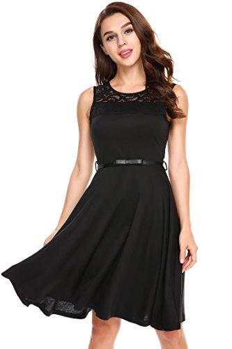 Belted Little Black Dress - 5